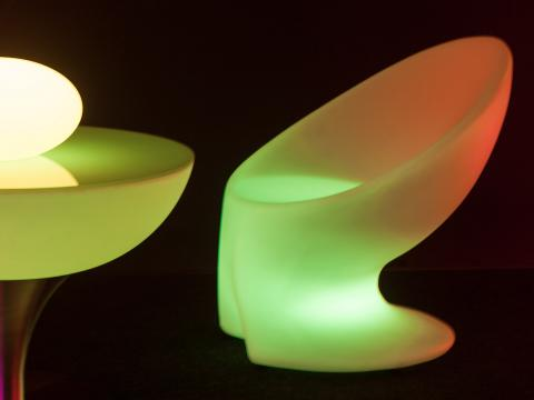 LED Furniture RGBW Wi-Fi chair Alive! LEDZ UFO