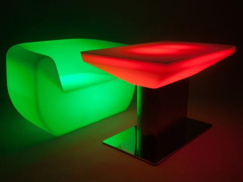 LED Furniture RGBW Wi-Fi table Alive! LEDZ Clubby