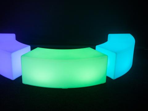LED Indoor Outdoor Furniture RGBW Wi-Fi bench Alive! LEDZ Snake