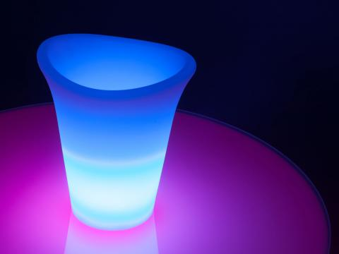 LED Indoor Outdoor Furniture RGBW Wi-Fi Vase Alive! LEDZ Champagne
