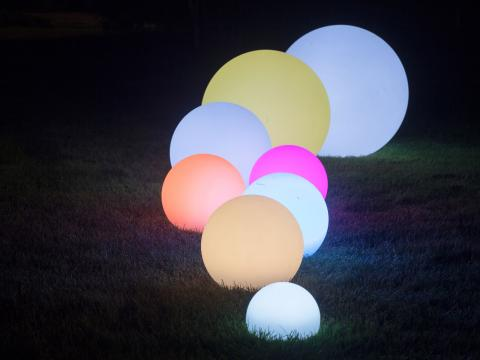 LED Indoor Outdoor Furniture RGBW Wi-Fi Led Ball Waterproof Globe Lamp Alive! LEDZ Globe 60